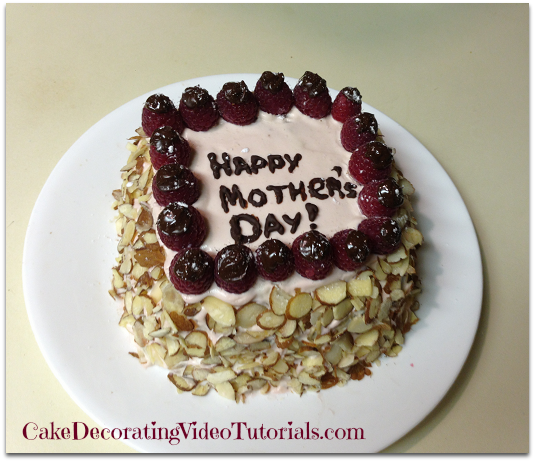 Chocolate Raspberry Cake Decoration : Mother s Day Dark Chocolate Cake Recipes From Scratch