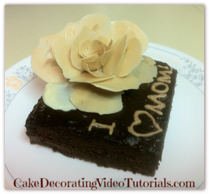 Homemade Mother's day chocolate cake recipe from scratch