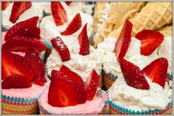Strawberry cupcake toppings